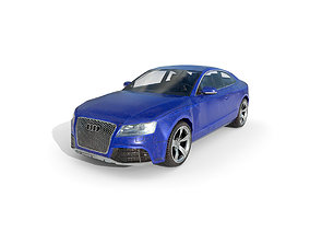Low Poly Car - Audi RS5 2011 3D asset