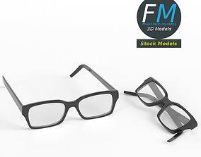 3D model PBR Glasses