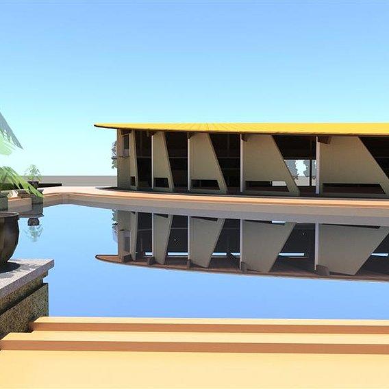 Workshop building in tropical passive design