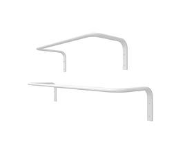 Clothes bar mount 3D model