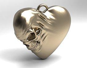 Skull heart 3D print model