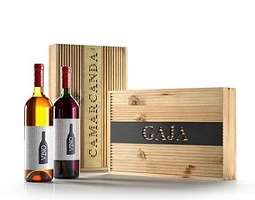 Wine and Gaja Boxes 3D model