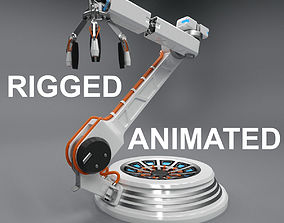 3D Futuristic Robotic Arm Rigged animated animated