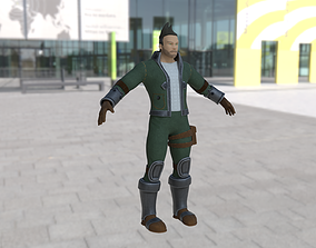 3D asset Stylized Soldier Character