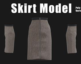 3D asset Skirt Model 2