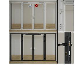 Double Glass Doors 3D