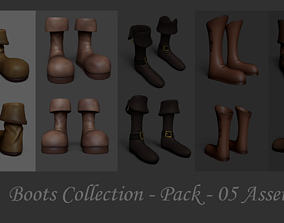 game-ready 05 Boots Collection - Pack Asset