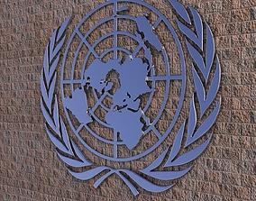United Nations Logo 3D model
