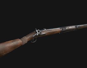 Gun Rifle Low Poly Game Ready 3D model