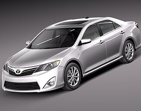3D model Toyota Camry LE 2012 USA