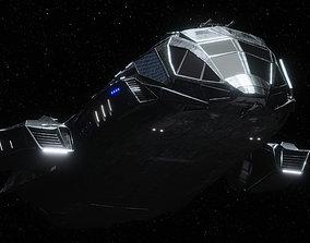 Spaceship 3D asset rigged