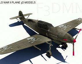 3D asset word war air craft obj fbx mb ma texture 2