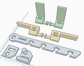 3D printable model PVC Windows Lock System Set house