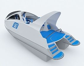 Unique Speed Boat 3D model