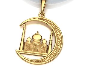 3D printable model Pendant Mosque and Crescent