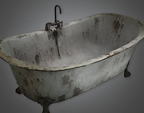 3D asset Old Bath Tub Antiques - PBR Game Ready