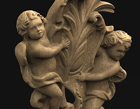Angels Relief 3D Model deco
