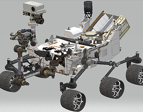 Moon rover 3D asset animated