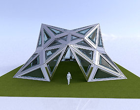 Pointed Diamond Pattern structure 3D model