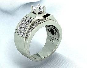 Business man Diamond ring 3D print model