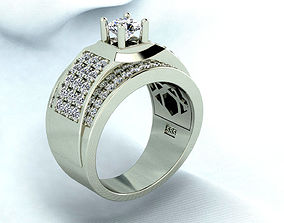 Business man Diamond ring 3D print model