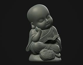 Reading Buddha 3D print model