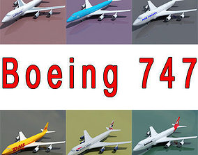 6 Textures for Boeing 3D model