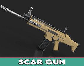 Fn Scar Gun 3D model