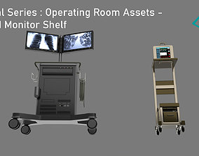 Medical Series - Operating Room - PC and Monitor 3D