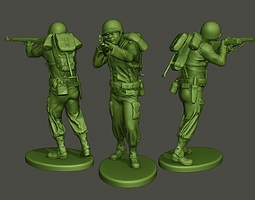 3D print model American soldier ww2 shooting A5