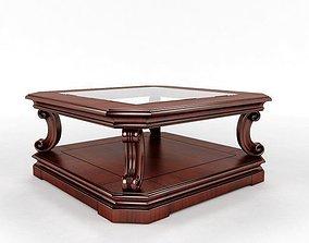 Rectangular coffee table furniture 3D
