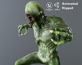 3D model animated Alien Monster