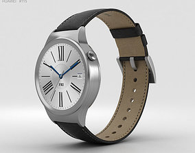 Huawei Watch Stainless Steel Black Suture Leather 3D model