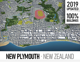 3D asset New Plymouth - city and surroundings