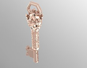 3D print model skull key pendant
