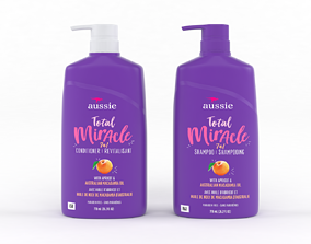 3D model Aussie Total Miracle Shampoo and Conditioner