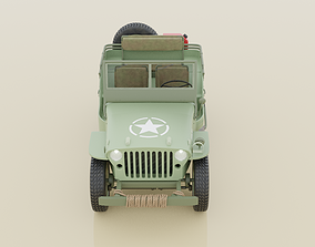 3D rigged Willys Jeep