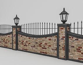 3D model game-ready Garden Wall