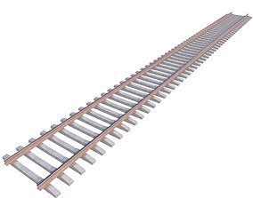 3D asset Railway Rails