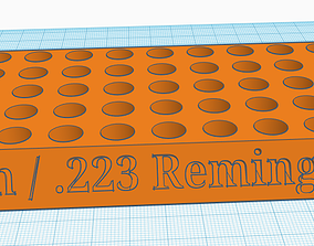 9 mm and 223 Remington Reloading Tray 3D printable model 1