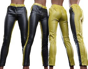 Padded Leather Leggings edgy 3D