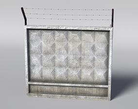 Concrete Fence 3D model game-ready