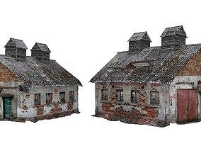 2Models Old house Kolkhoz 01-02 01 game-ready