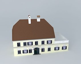 3D asset Old House European Style