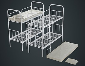 3D asset Bed Bunk 2A