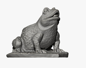 Frog on a Leaf Sculpture 3D printable model