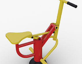 Outdoor fitness Equipment Horse Riding Exercise Machine 3D