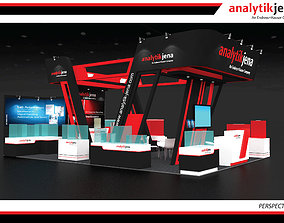 3D model Booth Analytik Jena design size 9 X 6m 54sqm