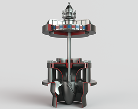 Hydroelectric power station 3D