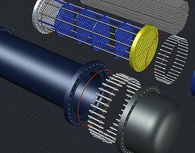 heat exchanger industrial 3D model